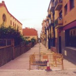 Segunda fase de pavimentación de la calle