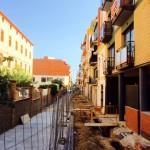 Protección de la zona de obra y pasos provisionales para comercios y vecinos