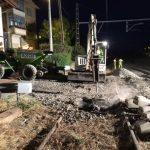 Demolición plataforma hormigón horario nocturno