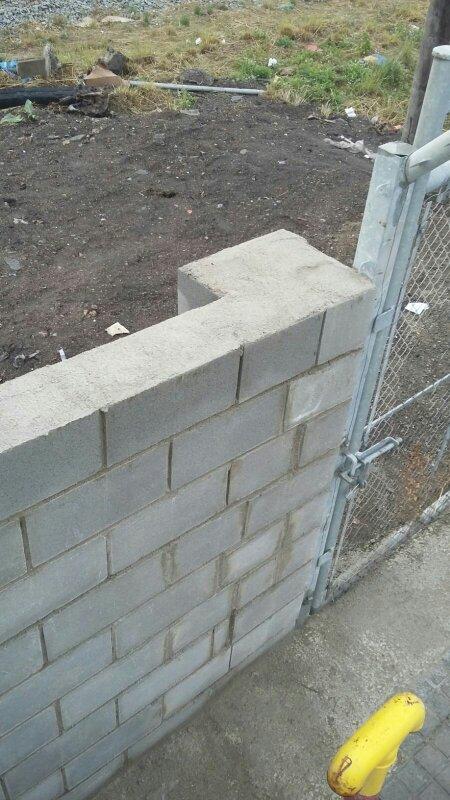 Intervencion ferroviaria y construcciones 12 zonas - Muro de bloque de hormigon ...