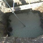 Vibrado del hormigón de llas cimentaciones