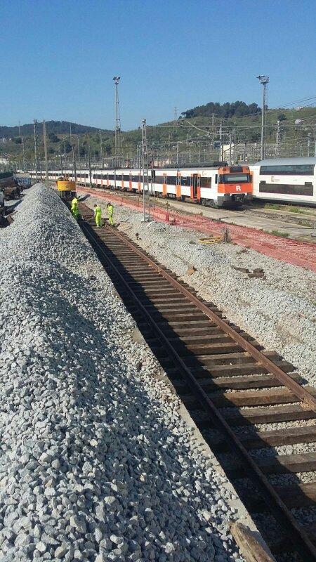 La brigada mínima de INFECO es de 4 operarios ferroviarios para trabajar con seguridad y eficiéncia