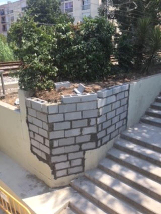 Aspecto de muro previo .al rebozado con mortero