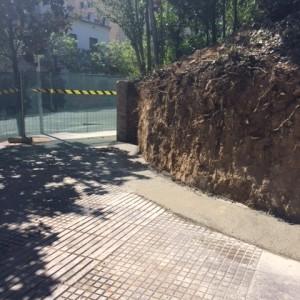 Aspecto antes de colocar muro de gaviones