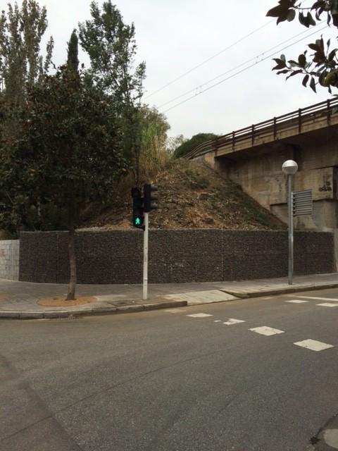 Muro de gaviones terminado
