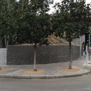 Otras vistas del muro de gaviones terminado
