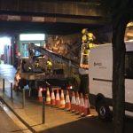 Trabajos efectuados en horario nocturno con camión cesta