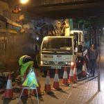 Separación de la zona de trabajo de la de circulación de peatones