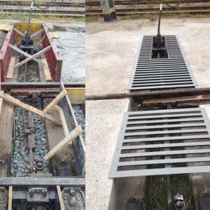 Antes y después de la protección de aparatos de vía