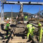 Sustitución de traviesas de madera por traviesas monoblock de hormigón