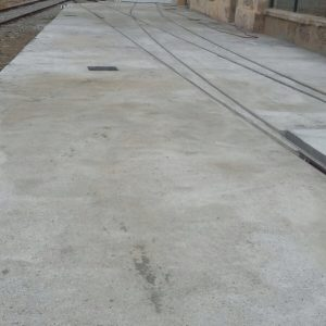 Vías de servicio estación de RENFE de Mataró hormigonadas