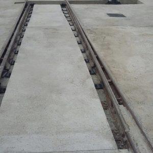 Vista general de todos los trabajos de hormigonado terminados, a falta de colocación de rejas para protección de huecos.