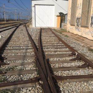 Vista departe de la zona de vías previa al hormigonado de plataforma de hormigón