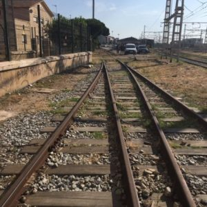 Vista de otra zona de vía previa al hormigonado de plataforma de hormigón