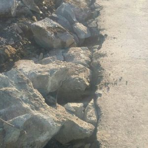 Demolición cimentación corrida