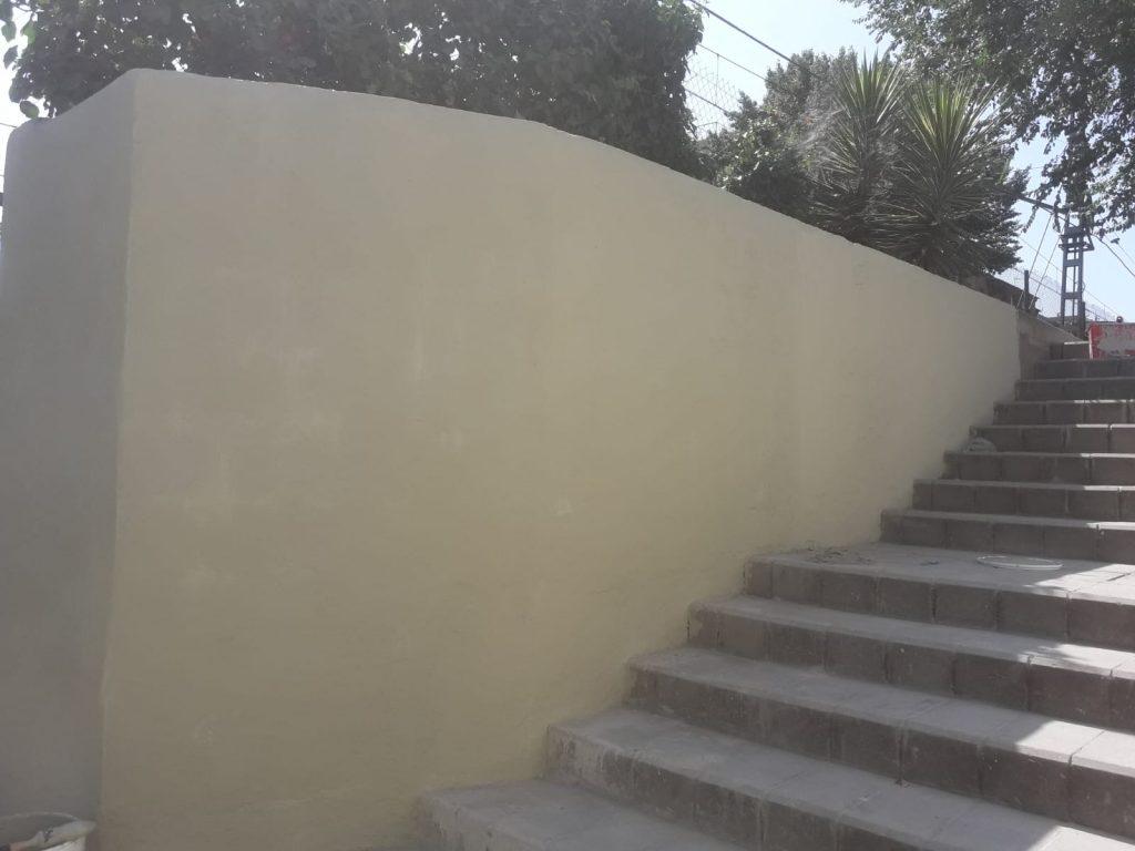 Aspecto del muro terminado.